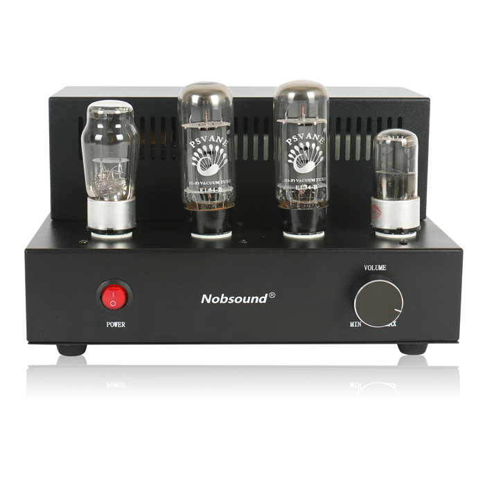 Nobsound Mini EL34 Vacuum Tube Amplifier HiFi Single-ended Class A Stereo Amplifier Finished Product 110~240V