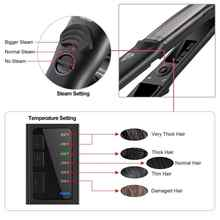Professional Steam Hair Straightener LED Ceramic vapor Hair flat Iron Electric Hair Curler Curling Iron Salon Styling Tools