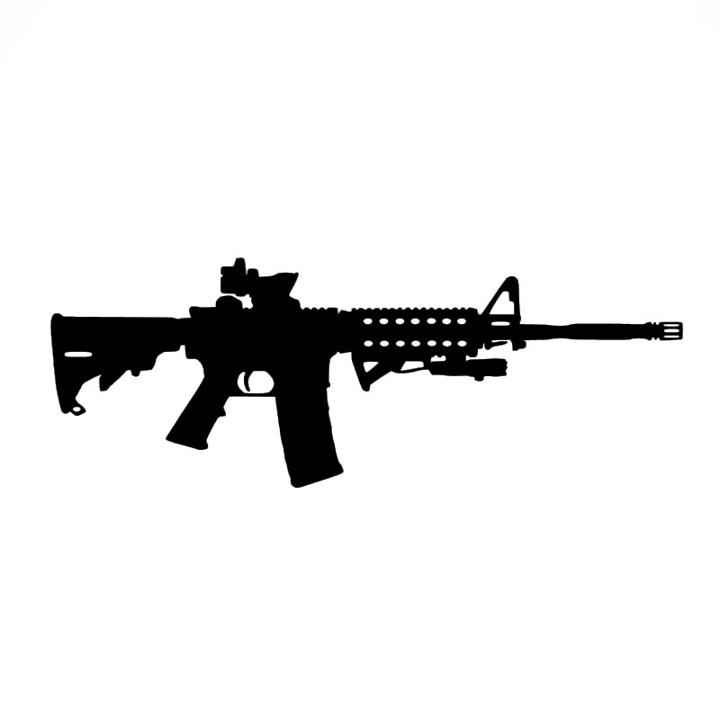 Car Sticker AR-15 Ammo Gun Lovers M1 Graphic Decal For Truck Bumper SUV Door Vinyl Waterproof 15*6 Cm