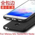 Caso suave de tpu para meizu m3 note m2 note helado de silicona delgado volver funda protectora para el meizu m2 note m3note cubierta completa shell