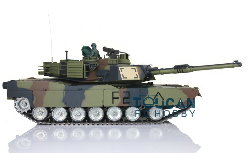 2.4Ghz HengLong 1/16 Scale Camo Green M1A2 Abrams RTR RC Tank Model Metal Tracks Wheels 360 Degrees Rotation Turret 3918 henglong 1 16 m1a2 abrams rtr rc tank metal tracks 3918