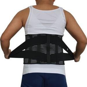 Image 4 - Y015 נשים גברים אלסטי מחוך בחזרה המותני Brace תמיכת חגורת אורטופדי היציבה חזור מותן חגורת תיקון בטן XXXL