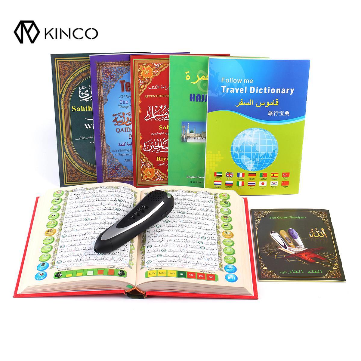 KINCO 4/8GB Digital Quran Reader Pen Speaker Recite FM MP3 TF With 6 Books Digital Quran Pen Reader 23 Languages проигрыватель для корана quran enmac pq15