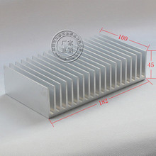 182*100*45mm LED/computer/MOS chips/power tube/amplifier Aluminium alloy thermal heat sink radiator heatsink Fin dentate
