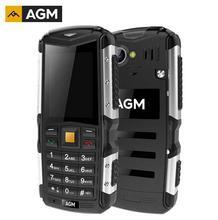 """Подарок! AGM M1 IP68 Водонепроницаемый 2.0 """"3 г мобильного телефона 2.0MP 2570 мАч dual sim двойной открытый пожилых людей мобильный телефон"""