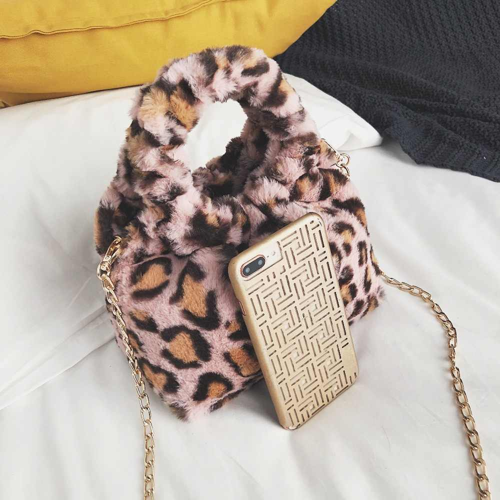 ... Mini Leopard Print Crossbody Bags For Women 2018 Handbags Messenger  Bags Shoulder Bag Lady Faux Fur ... fa942603be43a