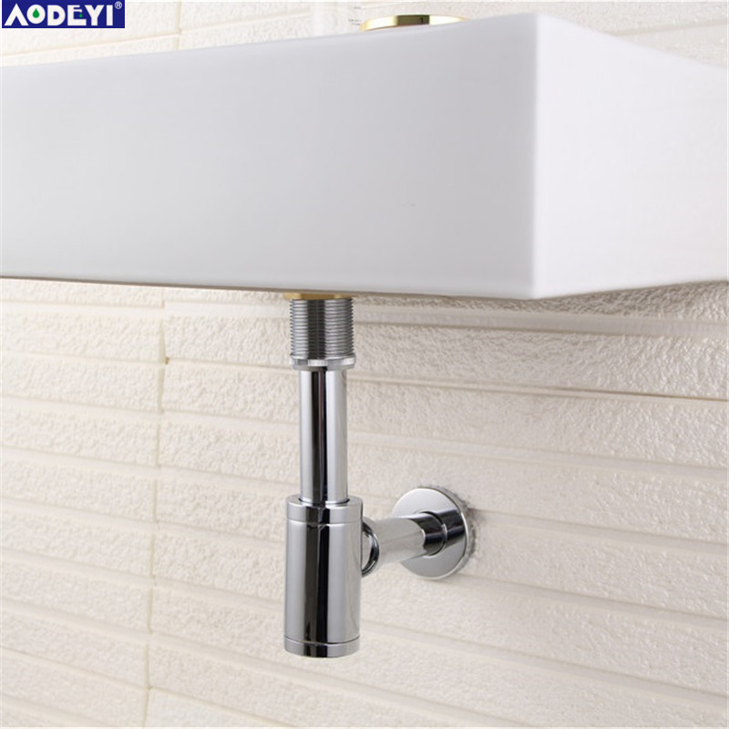 Brass &Stainless Steel Basin Waste Drain, P TRAP BATHROOM SINK VANITY BASIN PIPE WASTE drain pipe WASTE -siphon drain ...