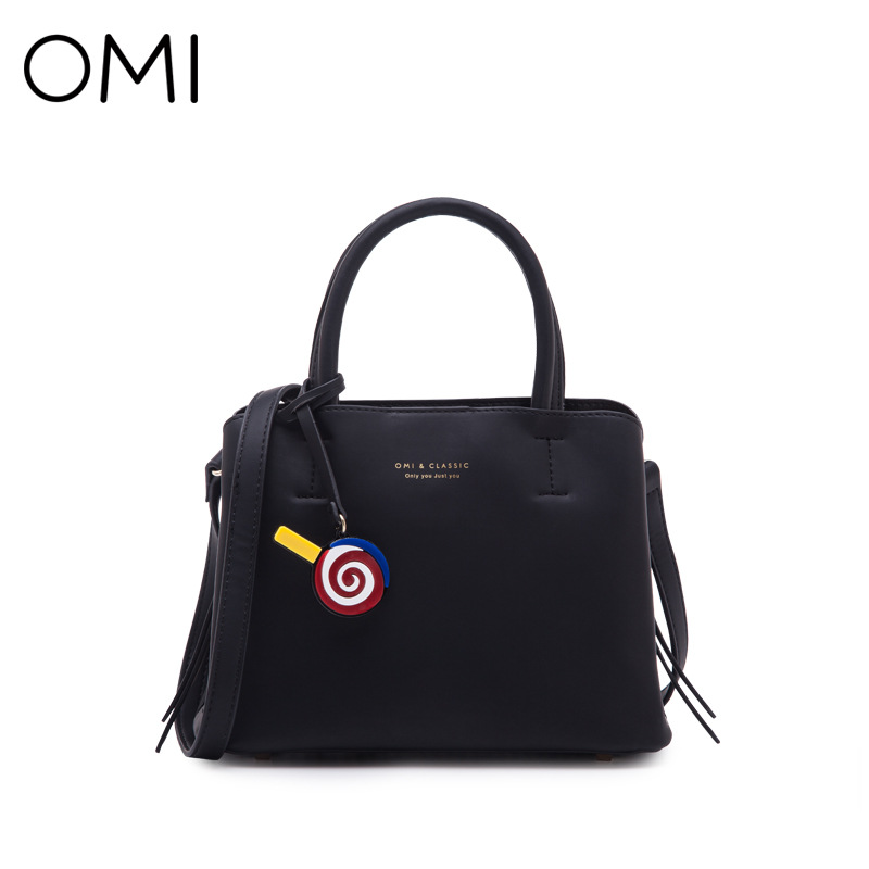 OMI female bag fashion shoulder bag popular female solid color small bag simple portable diagonal package цена
