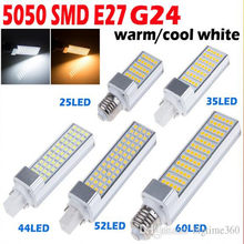 5W 7W 9W 12W 15W E27 G24 LED Corn Bulb Lamp Bombillas Light SMD 5050 Spotlight 180 Degree AC85-265V Horizontal Plug Light(China)