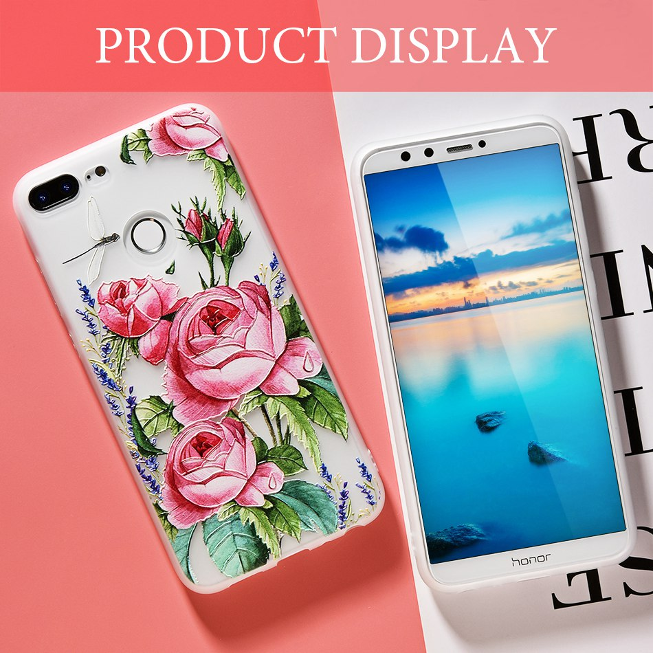 3D Relief Flower TPU Case For On Honor 9 9 lite Soft Silicone Case Back Cover Case for Huawei P20 P10 lite NOVA 2 Case           (7)