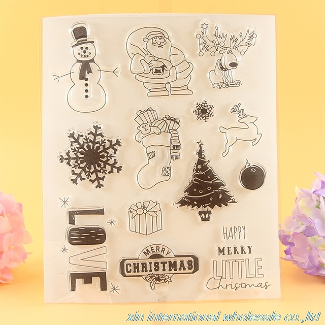 2pcs Clear Stamps For Scrapbooking Acrylic Vintage Scrapbooking