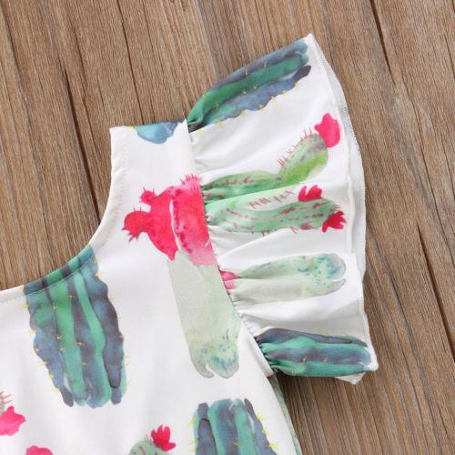 Newborn Baby Girl Cactus Romper