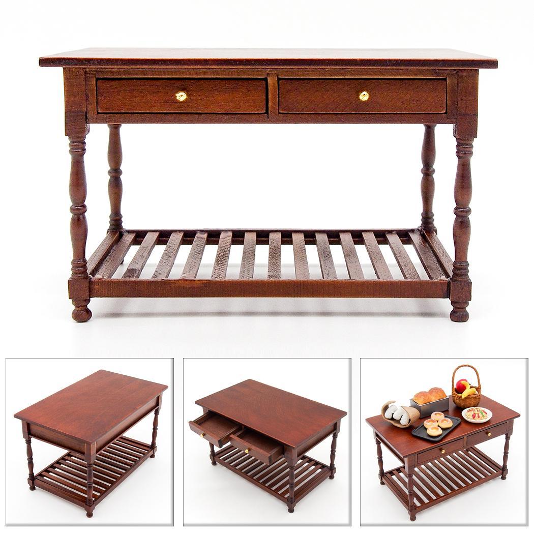 Sonstige 1 12 Retro Tisch Schreibtisch Mit Schubladen Mobel