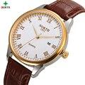 Мужские Часы Лучший Бренд Класса Люкс Глод Часы Кожа Мужчины Мода Повседневная Часы Кварцевые Часы Relojes Hombre 2016 Бизнес Часы мужчины