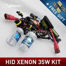 XENON HID комплект фар лампы Тонкий DC балласт лампы H7 H3 H7 H8 H9 H11 35 Вт 9005 9006 4300 K, 5000 K, 6000 K, 8000K 10000K GLOWTEC