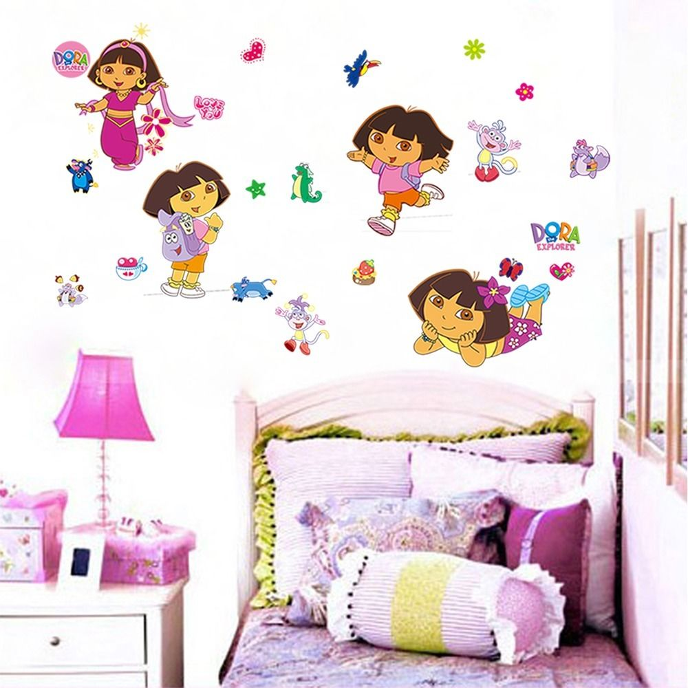 compare prices on monkey girl nursery online shopping buy low diy dora the explorer monkey wall sticker vinyl girl room cartoon decor baby nursery decal