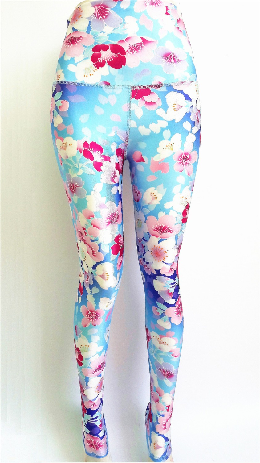 Plus Size Yoga Pants Lotus Flower Elephant Stripe Design Running