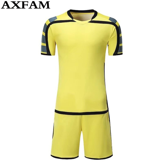 Hot Mens boys paintless Breathable football jerseys short-sleeve soccer  shirt blank football team full set uniforms kits suits 68c9183be