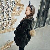Детская натуральном овечьем меху На зимнем меху осень для маленьких девочек Лидер продаж пальто дети длинный рукав пальто одежда