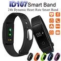 Inteligente Pulsera Smartband ID107 id 107 Pulsómetro Bluetooth Smartwatch Banda Deportes Muñequera Rastreador De Fitness para Mujeres