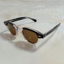 Top quality Johnny Depp Sunglasses Men Woman Brand Designer Acetate glasses Frame Polarized Sun glasses Driver Shade Q083-2 цена и фото