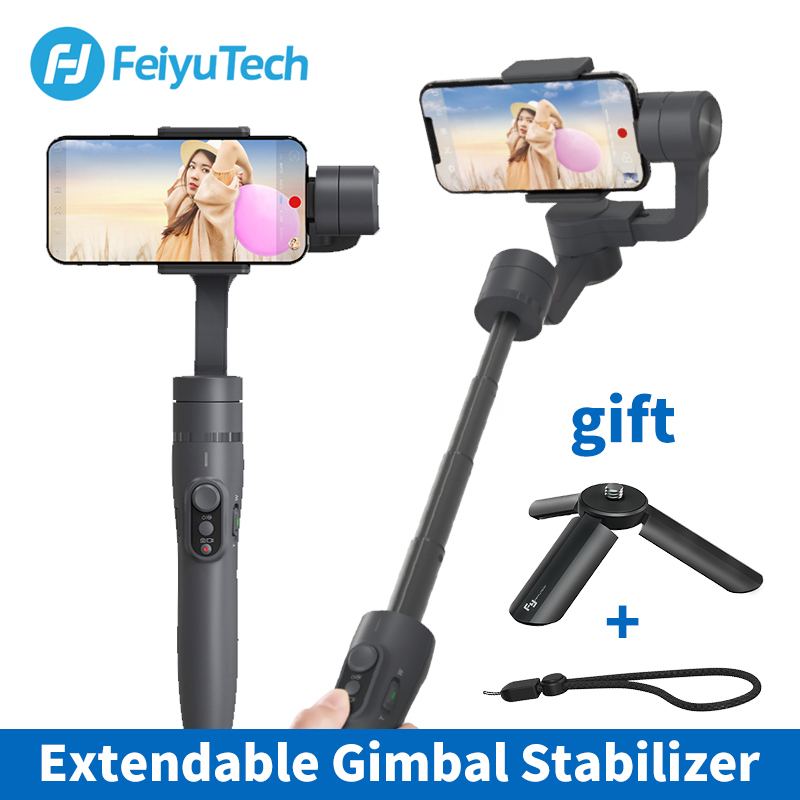 цены Feiyu vimble 2 Smartphone 3-Axis Handheld Gimbal Stabilizer bluetooth wireless selfie stick for iPhone X Gopro sjcam Smooth Q