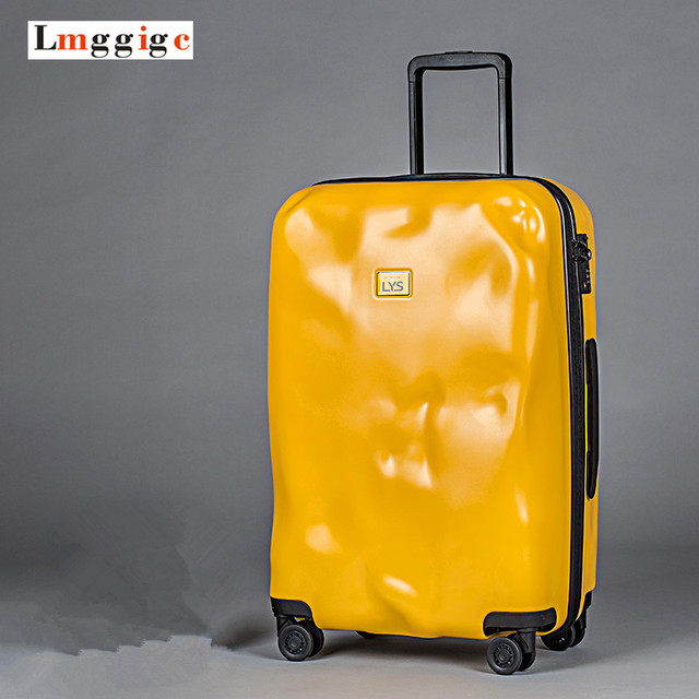"20""24""28""inch luggage,Star personality vintage trolley Suitcase,Fashion Deformed design ultra-light universal wheels travel case"