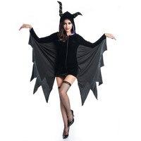 כישוף חדש ליל כל הקדושים שינה איות מכשפה תלבושות שינה קסם עטלפי קרנות שטן תחפושות שלב תלבושות