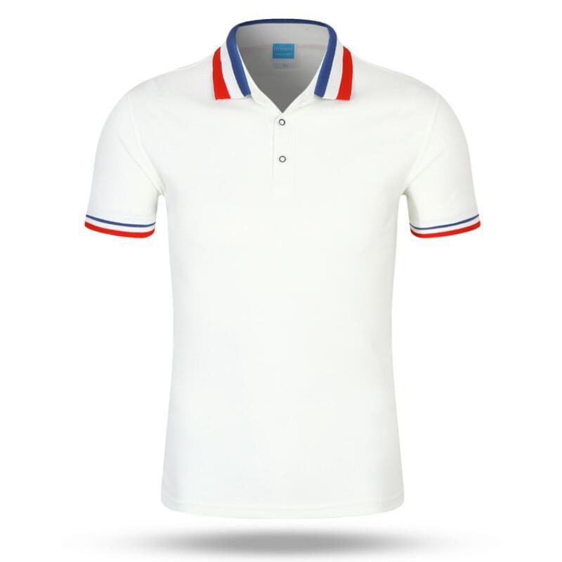 Ropa de marca nuevo hombres Polo camisa de los hombres de negocios y casual sólidos Polo camisa de manga corta transpirable Polo camiseta montón de Colores