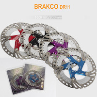 BRAKCO Mountain Bike Brake Rotors Mtb / DH 160 / 180 / 203 mm Rapid Cooling Float Disc Brake Rotor Bike Accessory