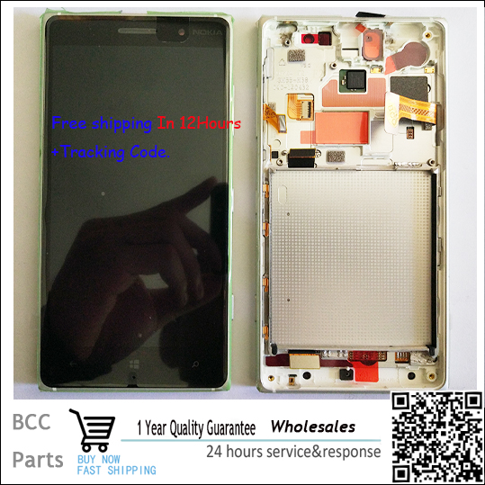 ФОТО Best quality Original New LCD display +Touch Screen digitizer with frame  For Nokia Lumia 830,Black/silverTest ok