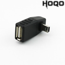 1x Mini USB 5Pin B Maschio a USB 2.0 Tipo A Femmina OTG Adattatore Host Sinistra/Destra/SU /Imbottiture Angolo Nero