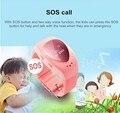 2016 Nova moda À Prova D' Água A6 GPS Relógio Rastreador Para Crianças crianças smart watch com botão sos google map gsm telefone relógio de pulso