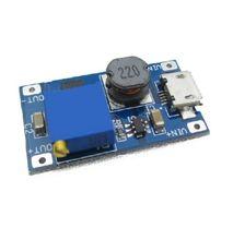 5 шт. mt3608 dc-dc регулируемый повышающий модуль 2а повышение пластина xl6009 step up модуль с micro usb заменить lm2577