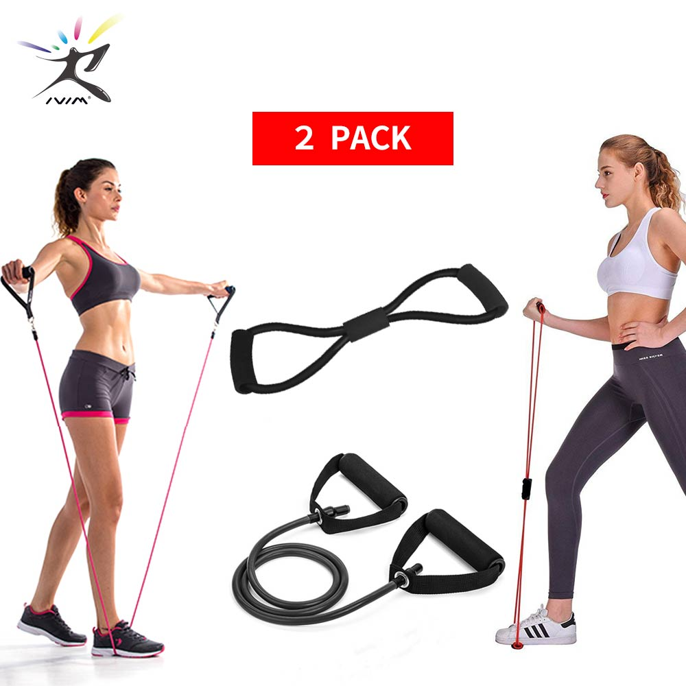 8 Word Chest Developer Pull Rope Set Resistance Band Stretch Bands for Fitness Rubber