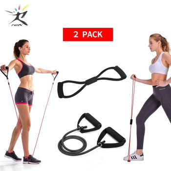 8 Word Chest Developer Pull Rope Set Resistance Band Stretch Bands for Fitness Rubber Equipment Expander