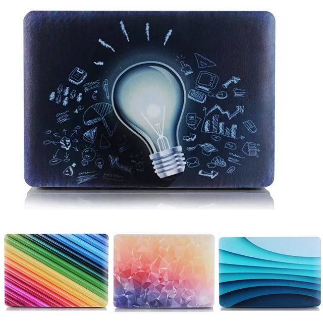 Fade Color Lamp Bulb Print Design Hard Cover Case For Apple Mac Macbook Pro 12 13