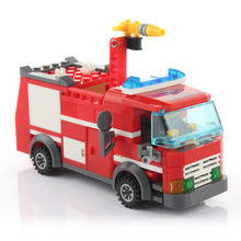 Emergency City 206pcs Fire Truck Building Blocks Sets Boy Educational DIY Toys Deform Model Bricks Children Toys