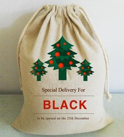 Special Delivery For Someone Christmas Santa Sack Vintage Custom Name Personalized Xmas Tree Canvas Large Bag