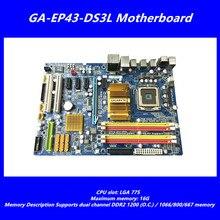 Carte mère de bureau d'origine pour Gigabyte GA-EP43-DS3L LGA775 DDR2 conseils EP43-DS3L P43 carte mère livraison gratuite