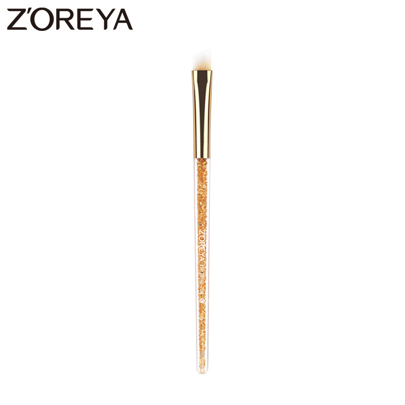 Zoreya BranProfessional maquiagens Beauty Nylon makeup Brushes Oblique Style Eyebrow Brush Cosmetic Brow Tool wholesale