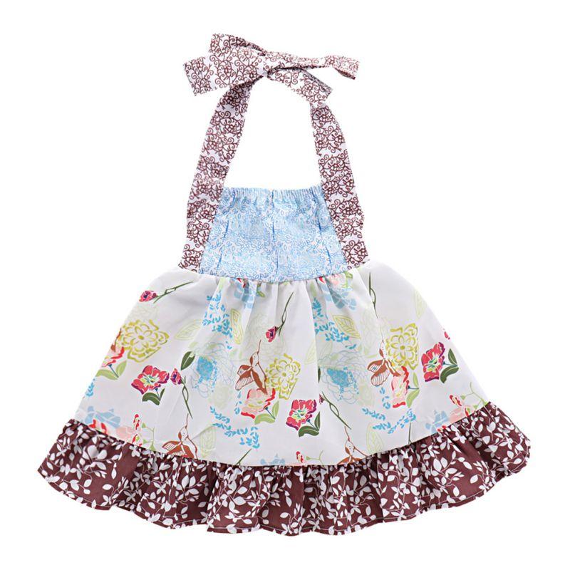 Hot Baby Bib Baby Girl Clothes Cartoon Print Sleeveless Cotton Apron Baby Child Apron Feeding Workwear Feeding Baby Accessories