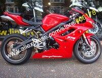 Лидер продаж, пользовательские обтекатель комплект для TRIUMPH Daytona 675 2009 2010 2011 2012 Daytona675 все красный обтекатели комплект (литья под давлением)