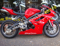Hot Sales,Custom Fairing kit for TRIUMPH Daytona 675 2009 2010 2011 2012 Daytona675 All Red Fairings set (Injection molding)