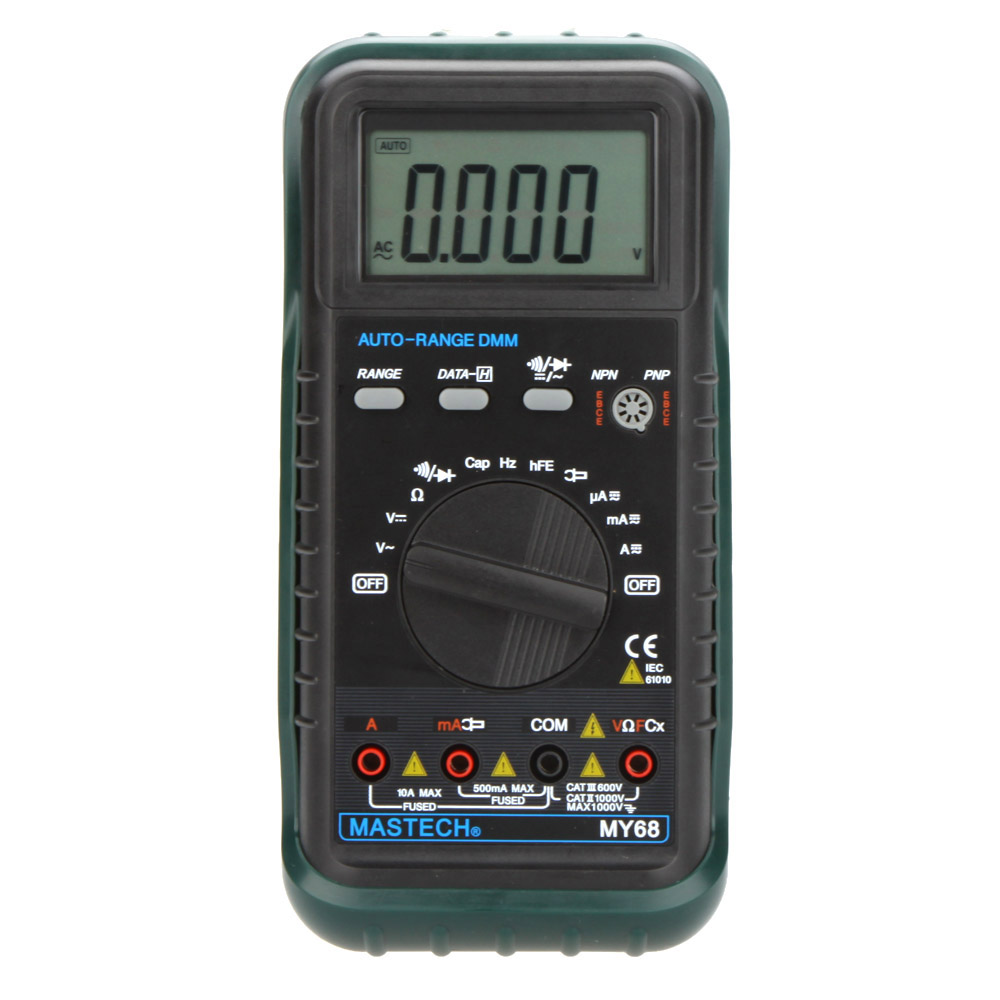 ФОТО MASTECH MY68 New Digital Multimeter Electronic handheld multimeter 3 3/4 LCD 3999 Counts Auto Ranging AC DC Digital Multimeter