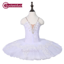 Kids White Classical Ballet Tutu Stage Wear Girls Dance Performance Competition Costumes Adult Dresses