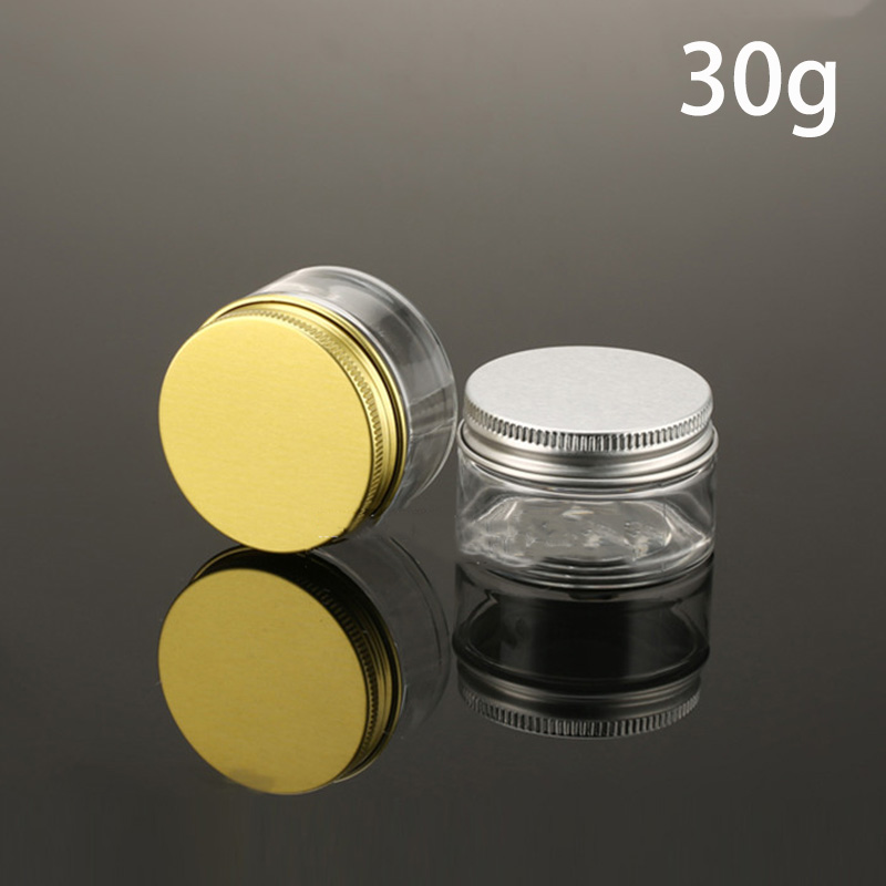 US $28 49 5% OFF|30g Transparent Plastic Cosmetic Jar 30ml PET Homemade  Lotion Cream Container Capsule Pill Bottles Aloe Vera Gel Free Shipping-in
