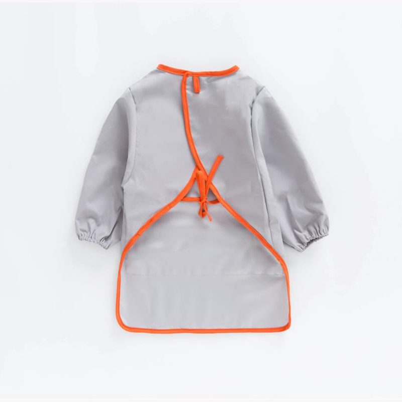 Soft Baby Bibs Long Sleeve Waterproof Easy To Clean Saliva Towel Child Apron Bib For Boys Girls kids feeding accessories