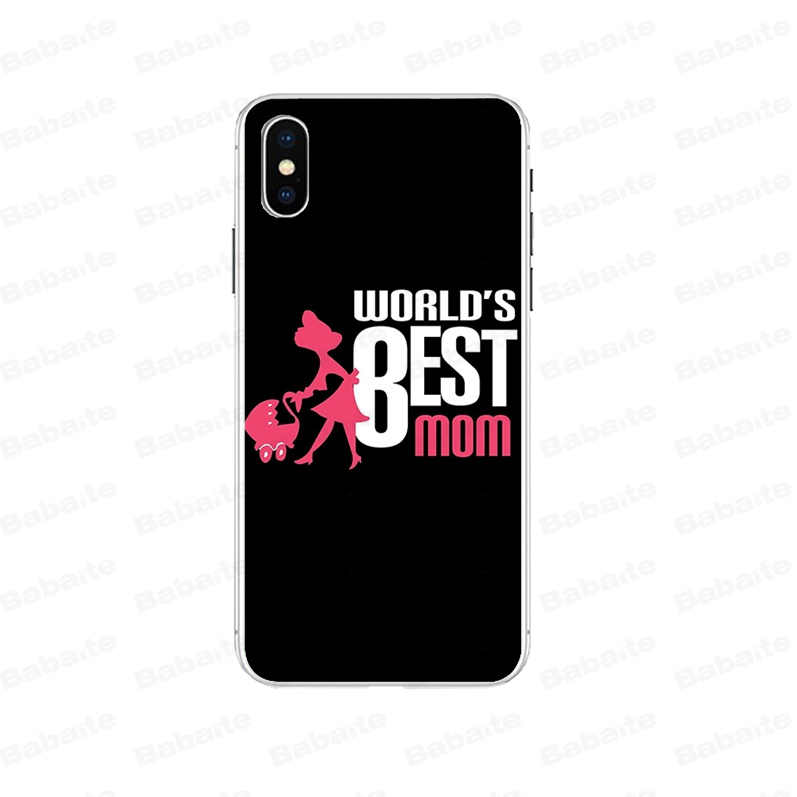 Babaite Beste Moeder DIY Luxe High-end Protector Case voor iPhone 7 7plusX XS MAX 6 6s 8 8Plus 5 5S SE XR cover