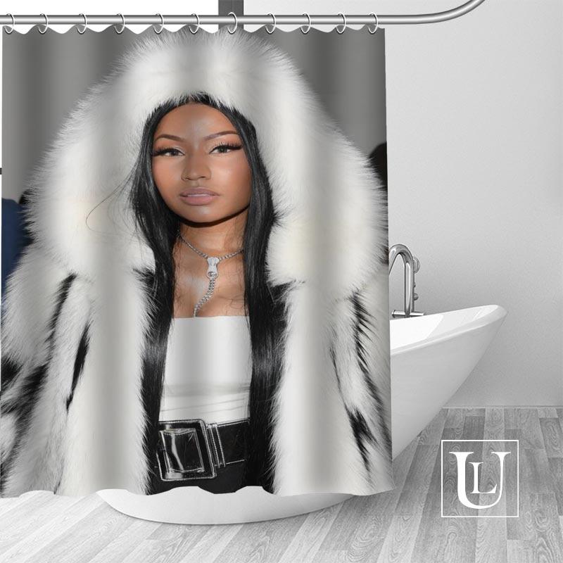 Waterproof Bathroom Curtains Modern Nicki Minaj Shower Curtain polyester Bath screens Customized curtain